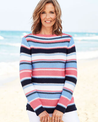 Boat Neck Stripe Jumper