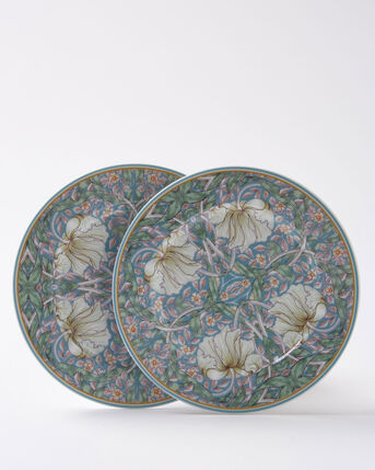 Pack of 2 William Morris Pimpernel Sandwich Plates