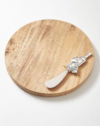 Acacia Cheese Board and Knife Set