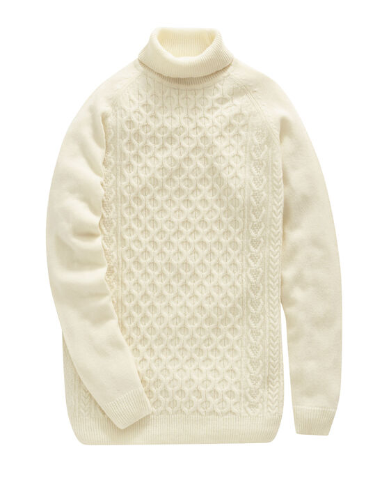 Cable Roll Neck Jumper