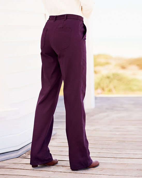 Wrinkle Free Adjustable Waist Trousers