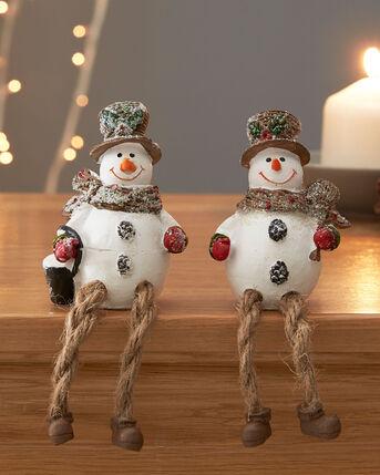 Pack of 2 Snowman Shelf Sitters