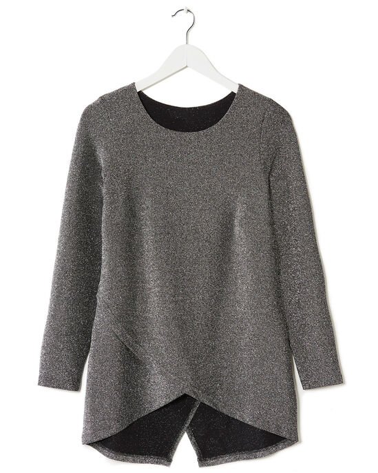 Jersey Sparkle Cross Over Top