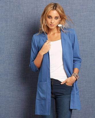 Longline Linen-blend Jacket