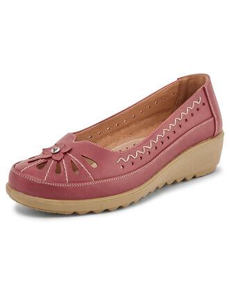 Flexisole Slip-on Flower Detail Shoes