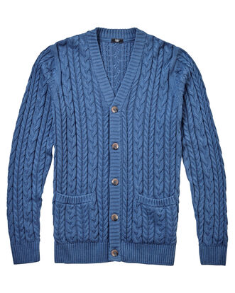 Cotton Cable Button-through Cardigan