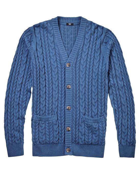 Cotton Cable Button-through Cardigan