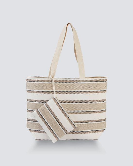 Stripe Bag and Purse Set