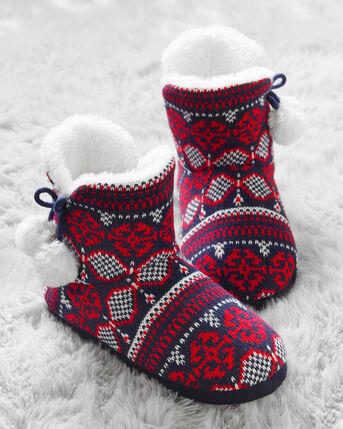 Fair Isle Slipper Boots
