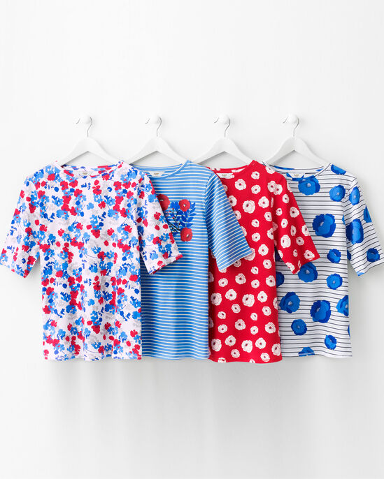 3/4 Sleeve Printed T-shirt