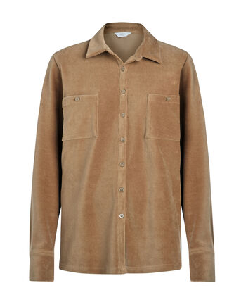 Effortless Jersey Cord Overshirt