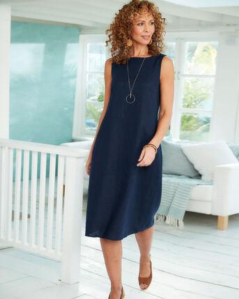 Cotton Linen Blend Dress