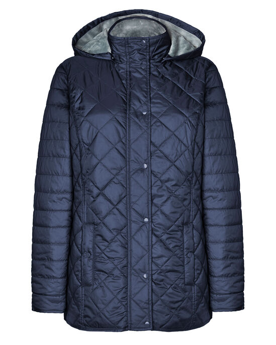 Cosy-You Fleece Lined Hooded Quilted Jacket