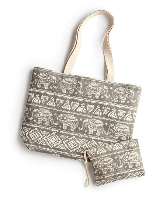 e9b4ec4f92 Elephant Print Bag and Purse Set at Cotton Traders