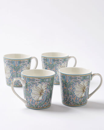Set of 4 William Morris Pimpernel Mugs