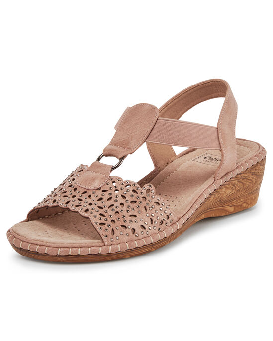 Embellished Wedge Sandals