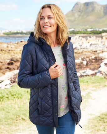 Faux Fur Lined Quilted Jacket
