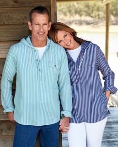Cotton Hooded Popover Shirt