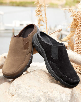 Suede Clogs