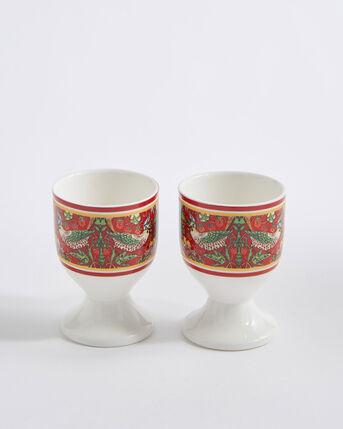 Set of 2 William Morris Strawberry Thief Egg Cups