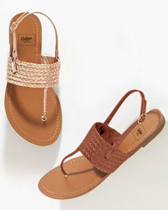 Plaited Toe Post Sandals