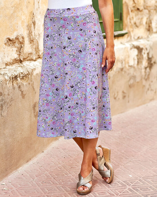 Tummy Control Floral Skirt