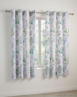 """Botanical Cotton Eyelet Curtains 66x72"""""""