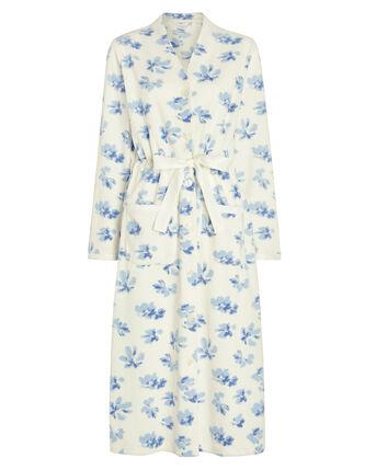 Tie Waist Printed Dressing Gown