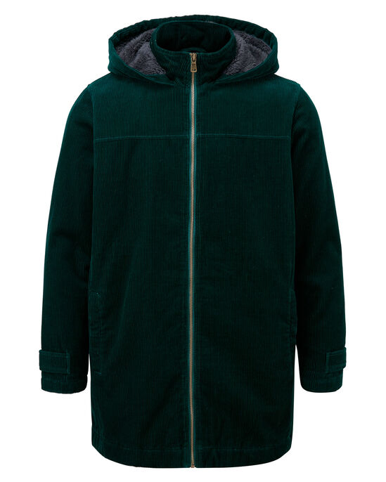 Cord Fleece Lined Coat