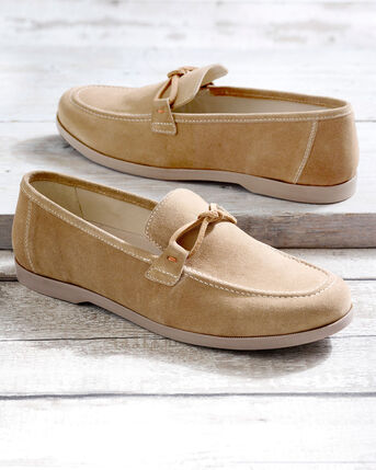 Suede Slip-on Boat Shoes
