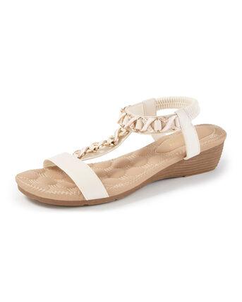 Cushioned Embellished Sandals