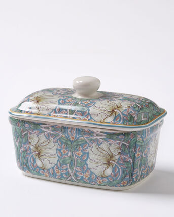 William Morris Pimpernel Butter Dish