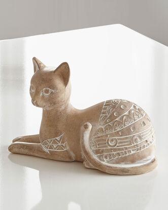 Carved Sandstone Effect Cat