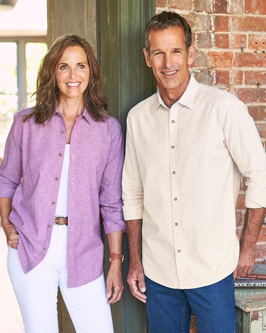 Long Sleeve Linen-rich Shirt