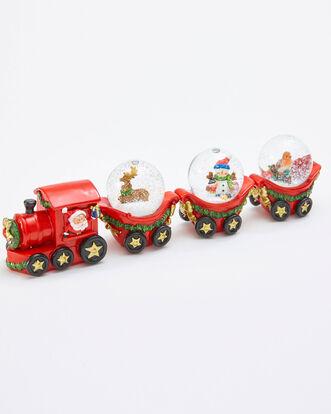 Snow Globe Train Ornament