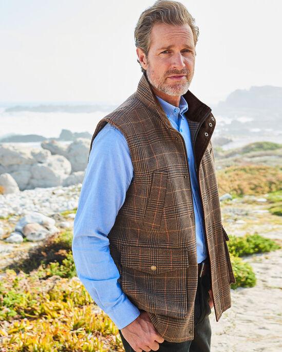 Durham Wool-blend Check Gilet