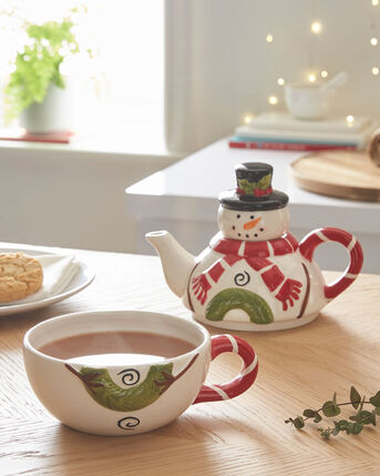 Snowman Tea For One