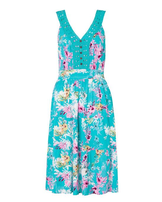 Short Crochet Trim Dress