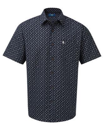 England Rose Short Sleeve Rugby Ball Print Shirt