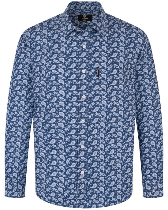 Guinness® Long Sleeve Soft Touch Paisley Print Shirt