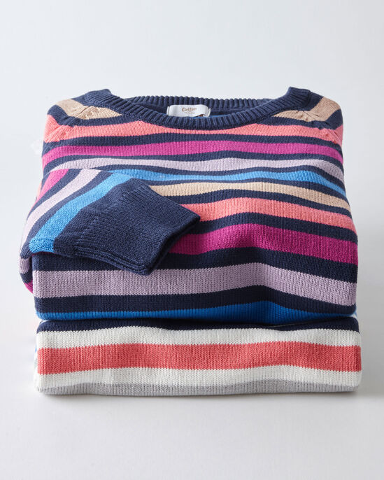Cotton Stripe Crew Neck Jumper