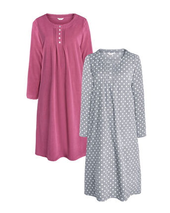 2 Pack of Fleece Night Dresses