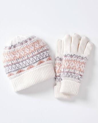 Fair Isle Hat and Glove Set