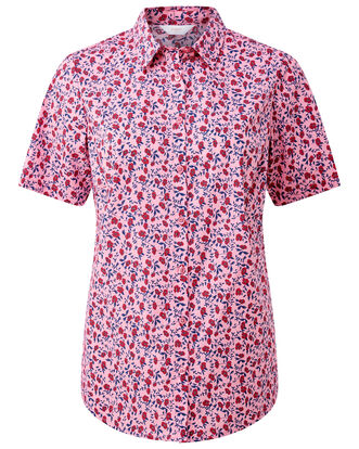 Pink Rose Wrinkle Free Short Sleeve Shirt