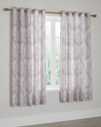 Emily Eyelet Curtains 66X72""