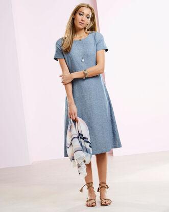 Linen-blend Fit & Flare Dress