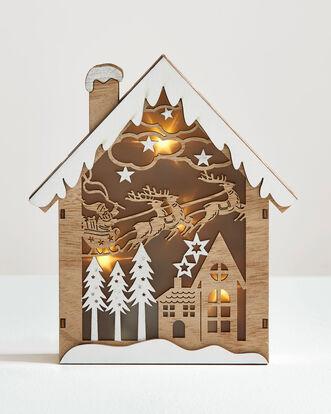 Light Up Christmas Scene House