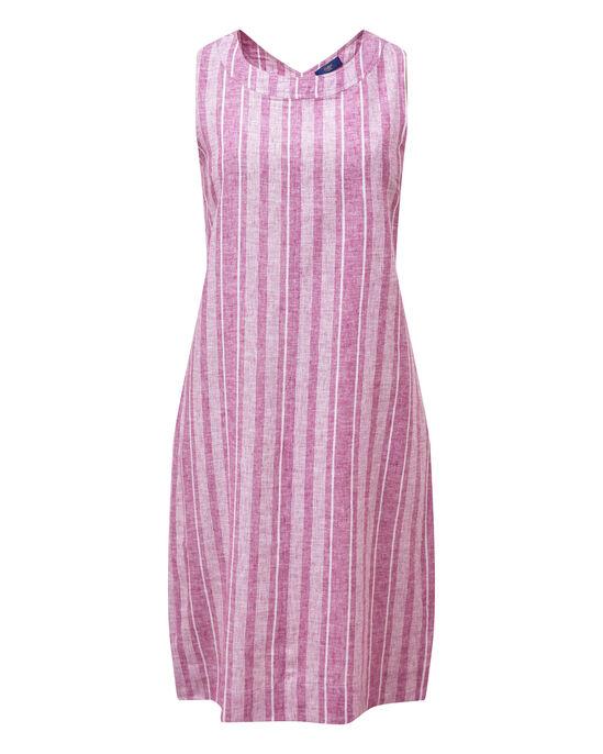 Linen Blend Stripe Dress