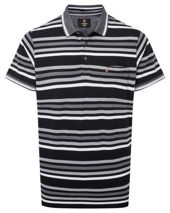 Guinness® Short Sleeve Stripe Pocket Polo Shirt