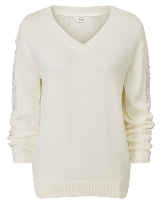 Lace Sleeve Jumper